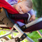 Baby sleeping in stroller