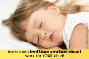 How to make a bedtime routine chart work for your child