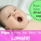How to make baby's naps longer